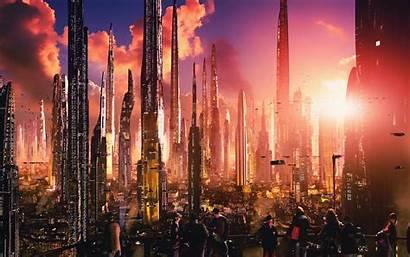 Concept Futuristic 4k Digital Fiction Science Night