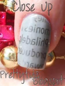 prettyfulz newspaper nail design super easy newspaper