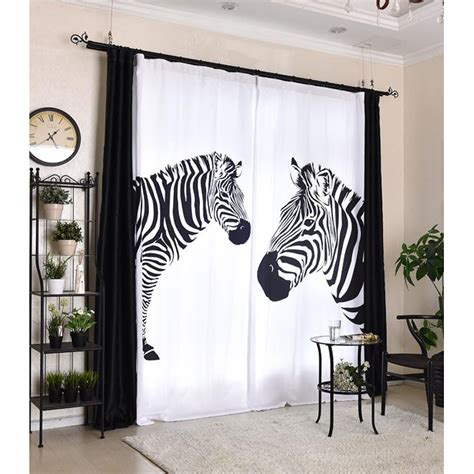 black and white print curtains black and white zebra print funky cool custom curtains