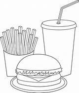 Coloring Pages Hamburger Burger Kawaii Popular sketch template
