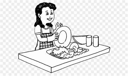 Clipart Dishes Dishwasher Im Line Background Drawing
