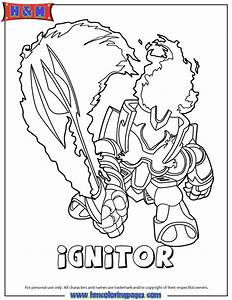 Skylanders Giants Fire Ignitor Series2 Coloring Page | H ...