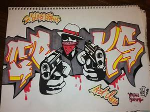 Graffiti Gangster Drawings - Graffiti Art Collection