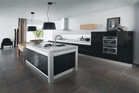 cuisine laque noir cuisine design noir laque