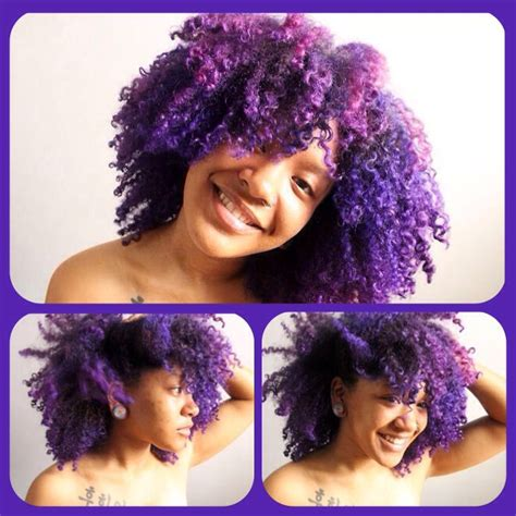 Purple Natural Hair Natural Hair Pinterest My Hair