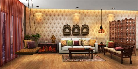 traditional 1 duplex wall indian ethnic living room designs moghul times