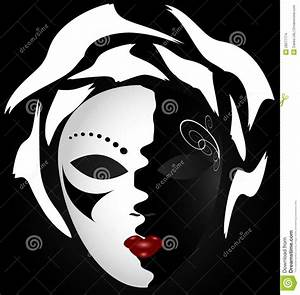 Planisphère Noir Et Blanc : masque noir blanc illustration de vecteur illustration du c l brez 28277774 ~ Melissatoandfro.com Idées de Décoration