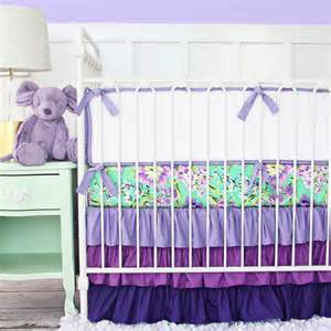 purple paige floral crib bedding transitional baby