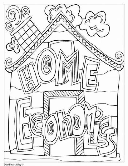 Economics Pages Coloring Subject Doodles