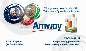 Amway business cards vistaprint images card design and for Vistaprint amway