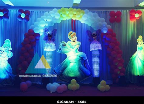 decoration birthday cinderella themed birthday decoration hotel bonsejour