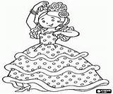 Coloring Pages Flamenco Dancers Spain Dance Spanish Music Thinking sketch template