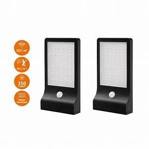 Bright Motion Sensor Outdoor Light Link2home Modern Flat Panel Bright Black 350 Lumen Motion