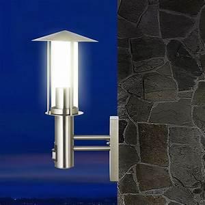 Lampe Mit Bewegungsmelder Außen : edelstahl garten wand au en leuchte bewegungsmelder mit 5w led energiespar lampe ebay ~ Frokenaadalensverden.com Haus und Dekorationen