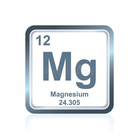 magnesium periodic table chemical element magnesium from the periodic table stock