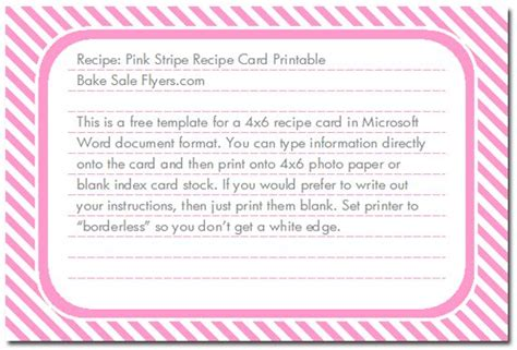recipe card template perfectly printable