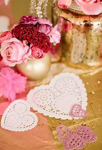 pink gold glittery valentine39s party ideas With valentine wedding shower ideas