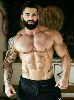 hairy chest face lips beard tattoos  perrako  pongo