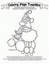 Poodle Coloring Pages Pink Puppy Paris French Colouring Printable Getcolorings Getdrawings Template Coloringhome sketch template