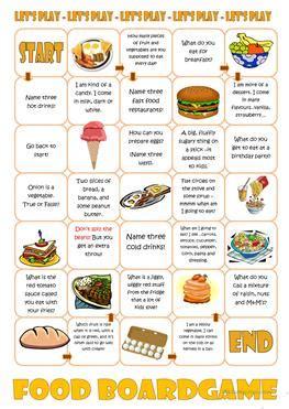 esl food worksheets