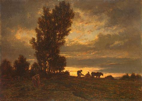 landscape   plowman theodore rousseau hermitage