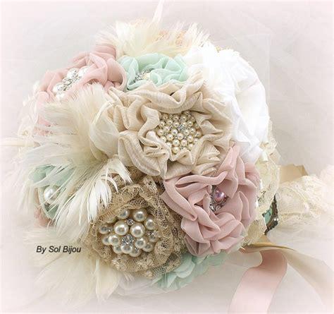Mint Brooch Bouquet Mint Bouquet Wedding Bridal Locket