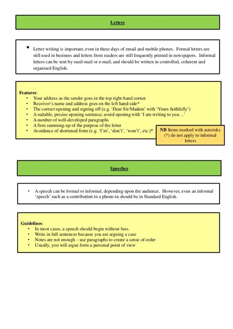 revision booklet  gcse english unit  exam