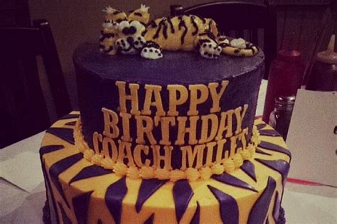 lsu football coach les miles  perfect birthday cake