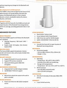 Cassia Networks X1000 Router User Manual V02