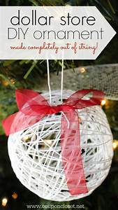 12, Days, Of, Homemade, Christmas, Ornaments, Day, 7, -, Dollar, Store, String, Ornament