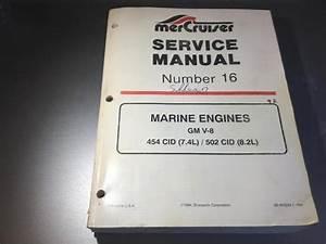 Mercruiser Service Manual  16 Gm 454 502 V8 Stern Drive