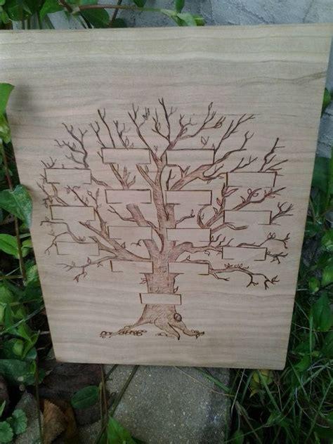 Woodburned Family Tree by FransGirls on Etsy Favorite