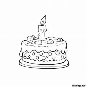 Dessin Gateau Anniversaire : coloriage gateau anniversaire 1 an ~ Melissatoandfro.com Idées de Décoration