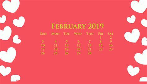 desktop february  calendar wallpaper february