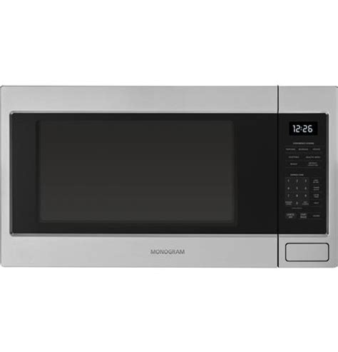 zebshss monogram  cu ft countertop microwave oven monogram appliances