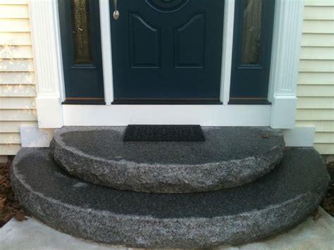 front steps traditional entry boston  hillside