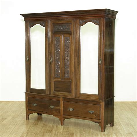 Large Armoire Wardrobe by Antique Large Solid Walnut 3door Armoire