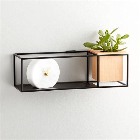 Small Ledge Shelf by Umbra Small Cubist Wall Shelf The Container Store