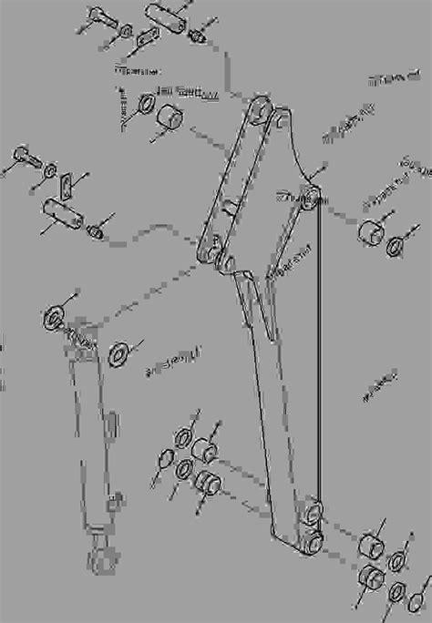 arm hydraulic excavator komatsu pcr  work equipment parts