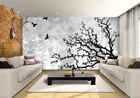 lemonade tree birds custom wallpaper mural print