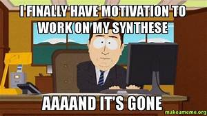 I FINALLY HAVE MOTIVATION TO WORK ON MY SYNTHESE AAAAND IT ...