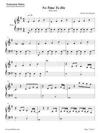 No Time to Die-Billie Eilish Free Piano Sheet Music ...
