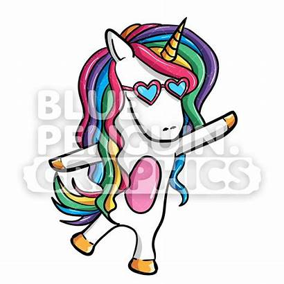 Unicorn Dancing Girly Cartoon Clipart Vector Illustration