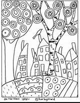 Coloring Landscape Pattern sketch template