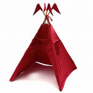 Tipi Petite Fille : tipi rouge num ro 74 pour chambre enfant les enfants du design ~ Teatrodelosmanantiales.com Idées de Décoration