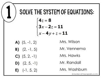 systems of equations with three variables math lib by all