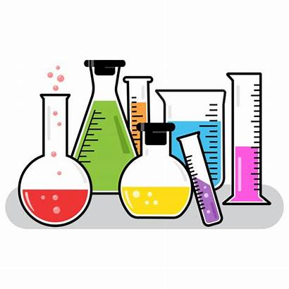 Flask Chemical Clip Clipart Science Illustrations Bubbling
