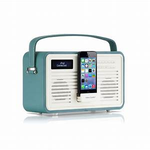 Dockingstation Iphone 5s : viewquest retro colourgen dab fm radio ipod iphone 5 5c 5s 6 dock station teal ebay ~ Orissabook.com Haus und Dekorationen