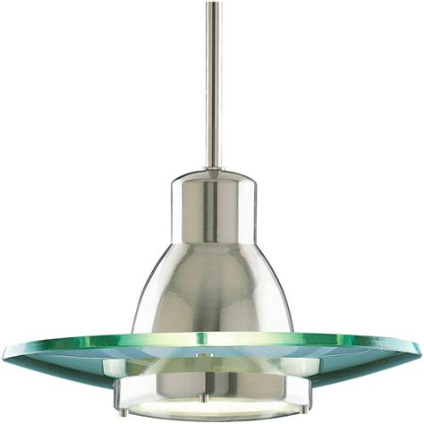 progress lighting 1 light mini pendant brushed nickel