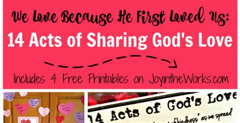 acts  sharing gods love joy   works